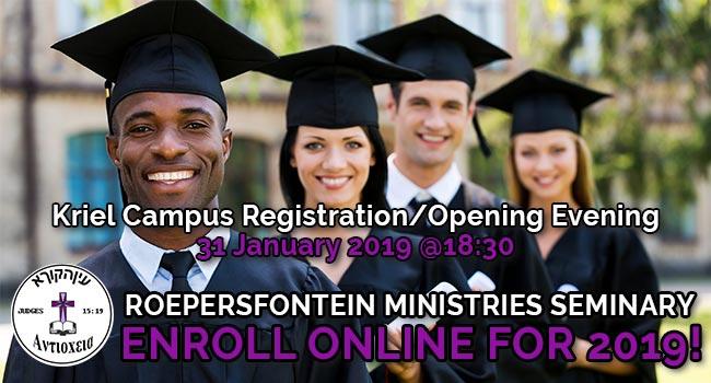 Roepersfontein Seminary Opening 2019